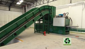 Large Capacity Semi-Automatic Horizontal Baler for Plastic, Pet Bottles