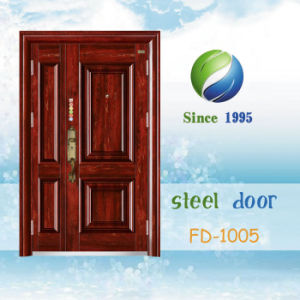 China Newest Develop and Design Single Steel Security Door (FD-1005) pictures & photos