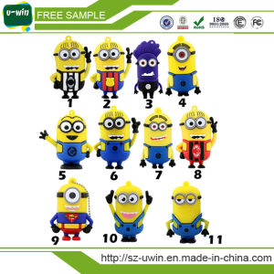 Free Sample Yellow Minion PVC USB Flash Drive 8GB pictures & photos