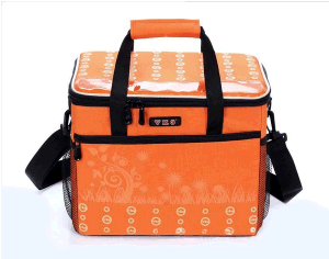 Guangzhou Supplier 3 Deparment Insulated Vertical Grocery Tote Cooler Lunch Bag (CC-011)