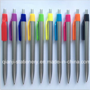 Silver Plastic Promotional Ballpen (P1046C) pictures & photos