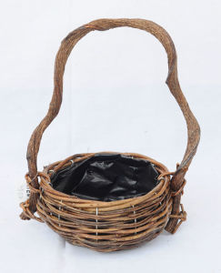 Natural Rattan Material Flower Basket