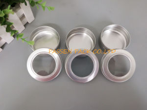 20z Cosmetic Aluminum Jar with Window Screw Cover (PPC-ATC-60) pictures & photos
