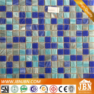 Ocean Blue Color Mix Size Swimming Pool Glass Mosaic (H455021) pictures & photos