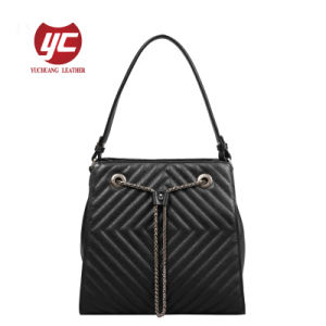 67ab20b39286 China High Quality Genuine Leather Bag Ladies Quilted Tote Bag ...