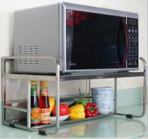 Stainless Steel Dual Tier Microwave Oven Rack Wb2054