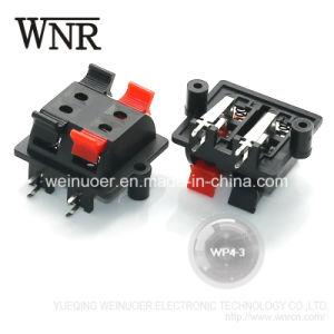 Wp4-3 Clip Spring 4pin Speaker Terminal Board Wp
