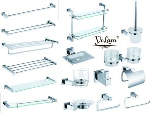 Modern Chrome Wall Mount Bathroom Accessories Set 22 Series