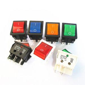 On-Off Waterproof Rocker Switch 30A 250V DPST IP67 LED LIGHT