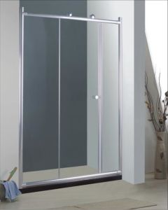 Bathroom 6mm Big Roller Single Sliding Door Shower Enclosure (BR930) pictures & photos