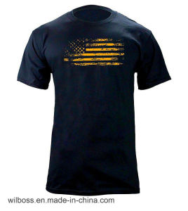 Custom Quality Tc 65/35 Flag Printing Man′s T-Shirt of Round Neck