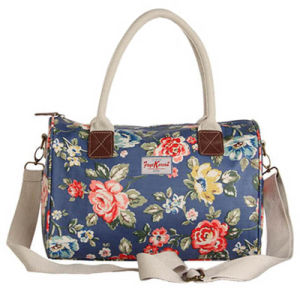 Waterproof Canvas Floral Patterns Large Capacity Boston Bag (99210)