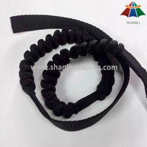 25mm Black Nylon Elastic Webbing for Buffering Use on Safety Products