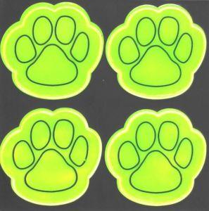 China Pvc Popular Dog Paws Safety Reflective Sticker China Reflective Sticker And Key Chain Price