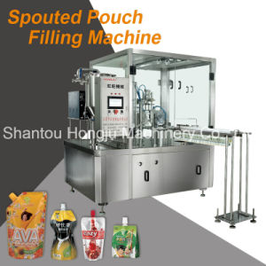 Filling and Capping Machine for Spouted Pouch