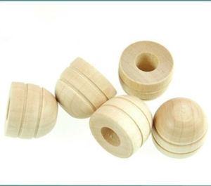High Quality Wood Turning Perfume Bottle Cap pictures & photos