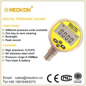 Economical Digital Gas Pressure Gauge with ISO Certificates Shanghai