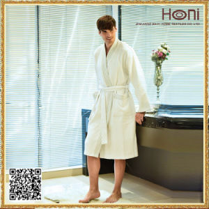 High Quality Hotel Bathrobe, White Men Bathrobe