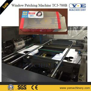 Paper Box Window Patching Machine Tcj-700b with Gluing pictures & photos