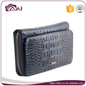 58ba18ae286c China Black Slim Long Genuine Leather Name Brand Purses Wholesale ...