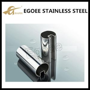Ss 304 Handrail Stainless Steel U Slot Tube for Handrail pictures & photos