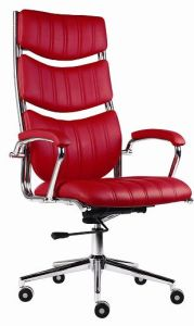 Modern PU Leather Aluminum Base Swivel Manager Chair pictures & photos