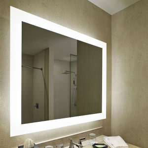 Wall Mounted Hotel Bathroom Frameless Large Lighted Backlit Vanity Mirror