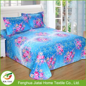 China New Design Flower Printed Bed Sheet Set