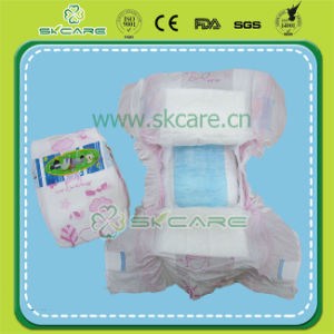 PP Tapw and PE Film Baby Diapers with Blue Adl