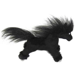 China Custom Stuffed Fuzzy Black Horse Toys China Sutffed Black