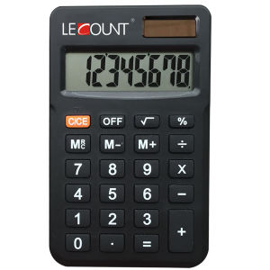 Portable 8 Digits Dual Power Mini Handheld Business Calculator (LC396S)