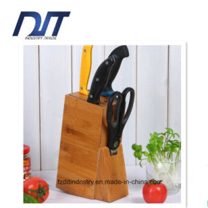 Custom Design Standing Bamboo Kitchen Knife Rest/Stand