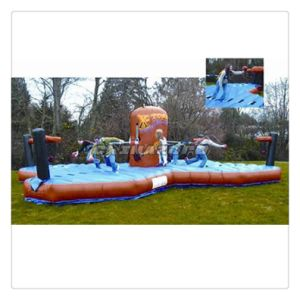 Exciting Outdoor Sport Game Inflatable Bungee Run for Adults