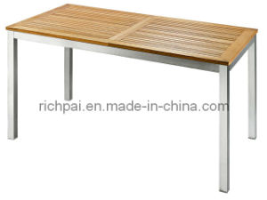 Outdoor Furniture - Stainless Steel and Teak Table (RTT004)