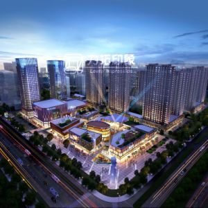 3D Rendering Light Beauty of Qingdao Tourism College Project