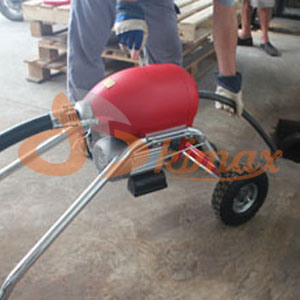 Electric Pipe Drain Cleaner with Large Wheels