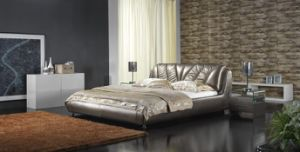 Apartment Furniture Modern Soft Bed (6060) pictures & photos