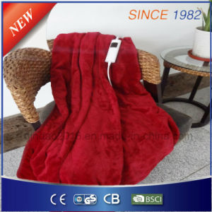 Qindao Soft Fleece Electric Over Blanket with Temperature Thermostat pictures & photos