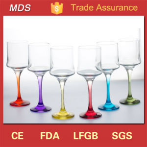 Glassware Cheap Handmade Different Colour Wine Glasses pictures & photos