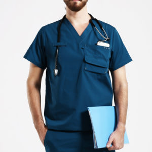 Fashion Nursing Scrubs/Hospital Uniform/Medical Scrubs with Pocket pictures & photos