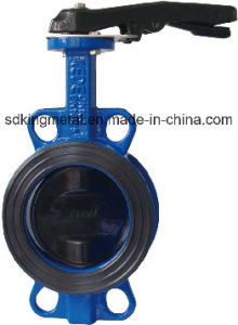 a Type Wafer Ductile Iron Handle Butterfly Valve pictures & photos