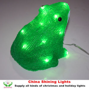 Frog Design LED Acrylic Lights Christmas Holiday Party Decoration Toy