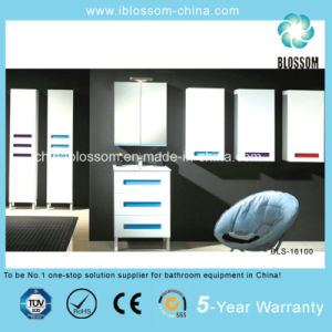 Hangzhou Factory Made Floor Mounted PVC Bathroom Vanity, Cabinet (BLS-16100) pictures & photos