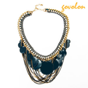 New Fashion Resin Necklace Chain with Metal Tassels pictures & photos