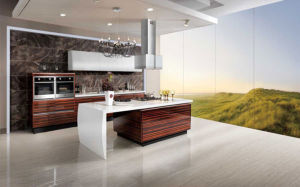 European UV Lacquer High Gloosy Modular Kitchen Cabinet (ZX-022)