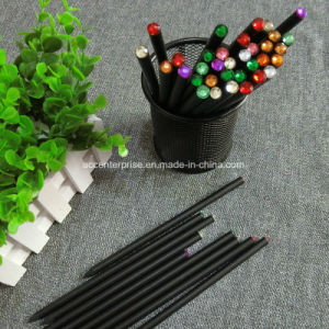 Environmental Black Wood and Crystal Diamond Pencil pictures & photos