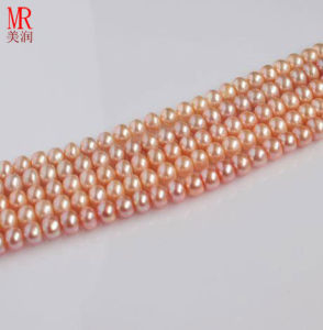7-8mm Pink Semi-Finished Freshwater Pearl Necklace pictures & photos