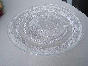 6 Inch to 13 Inch Glass Plate with Lace Adge Shape Series