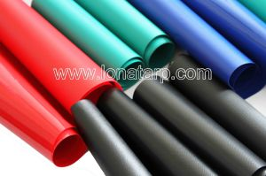a Variety of Blue, PVC Coated Tarpualins 500d18X16