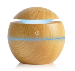 China Mini Wooden Aromatherapy Humidifier Aroma Diffuser Essential Oil Diffuser Air Purifier Color Changing Led Touch Switch China Air Purifier And Aroma Diffuser Price